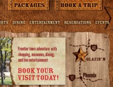 Blazin' M Ranch website design